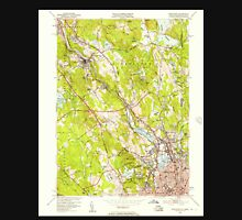 USGS TOPO Map Rhode Island RI Pawtucket 353332 1949 24000 Unisex T-Shirt