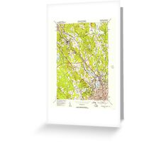USGS TOPO Map Rhode Island RI Pawtucket 353332 1949 24000 Greeting Card