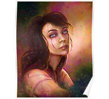 Shaman girl digital fantasy portrait Poster