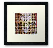 900 Grid Man Framed Print