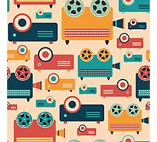 Retro Projectors Photographic Print