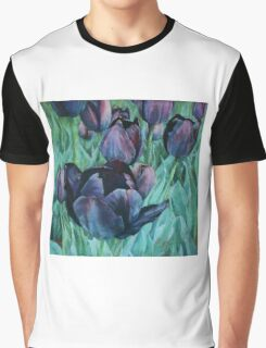 Black Tulips Graphic T-Shirt