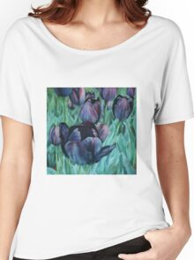 Black Tulips Women's Relaxed Fit T-Shirt