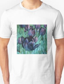 Black Tulips Unisex T-Shirt