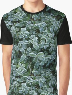 Leaves Frost Texture Graphic T-Shirt