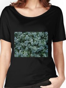 Leaves Frost Texture Women's Relaxed Fit T-Shirt