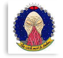 Ood alien face  Canvas Print
