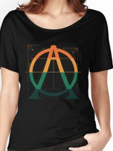 A O (Type Grid) Women's Relaxed Fit T-Shirt