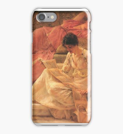 the-favourite-poet-by Lawrence Alma-Tadema iPhone Case/Skin