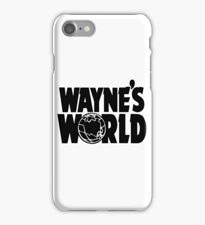 Wayne's World (Inverted) iPhone Case/Skin