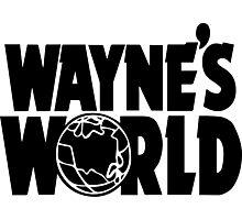 Wayne's World (Inverted) Photographic Print