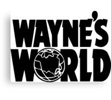 Wayne's World POCKET TEE (Inverted) Canvas Print