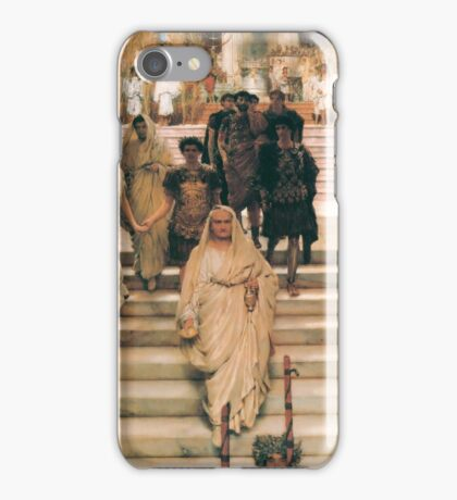 the-triumph-of-titus-by Lawrence Alma-Tadema iPhone Case/Skin