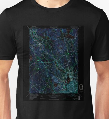 USGS TOPO Map Rhode Island RI Pawtucket 353336 1949 24000 Inverted Unisex T-Shirt