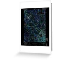 USGS TOPO Map Rhode Island RI Pawtucket 353336 1949 24000 Inverted Greeting Card