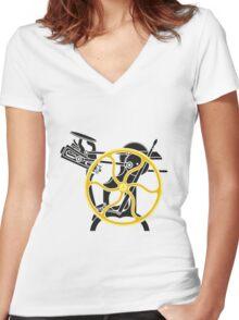 letterpress Women's Fitted V-Neck T-Shirt