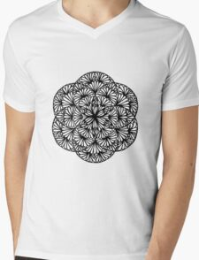 Flowery seed of life, pale pink - One Mandala A Day Mens V-Neck T-Shirt