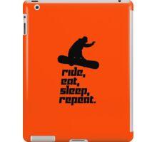Ride, eat, sleep, repeat. iPad Case/Skin