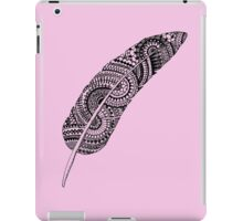 Feather zentangle, pale pink - One Mandala A Day iPad Case/Skin
