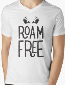 ROAM FREE Mens V-Neck T-Shirt