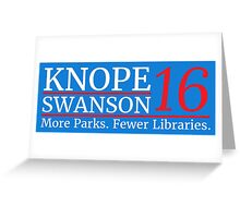 Vote Knope Swanson 2016 Greeting Card