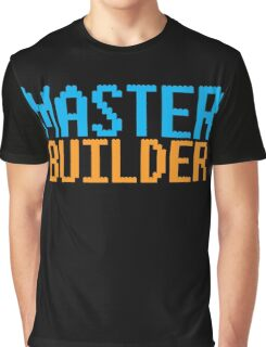 MASTER BUILDER with toy bricks Graphic T-Shirt