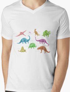 Dinosaur Montage - multicoloured Mens V-Neck T-Shirt