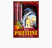 Visit Palestine Vintage Travel Poster Restored Unisex T-Shirt