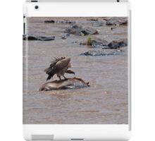Vulture on carcase in the Mara River iPad Case/Skin