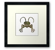 Fight Insect Texture Outline Framed Print