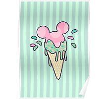 Mickey Icecream Splash Poster
