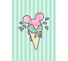 Mickey Icecream Splash Photographic Print