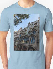 Looking Up to a Masterpiece - Antoni Gaudi's Casa Batllo in Barcelona, Spain Unisex T-Shirt