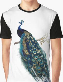 Vintage Peacock  Graphic T-Shirt