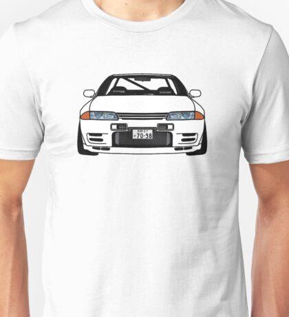 SKYLINE R32 GTR PLAIN WHITE JDM Unisex T-Shirt
