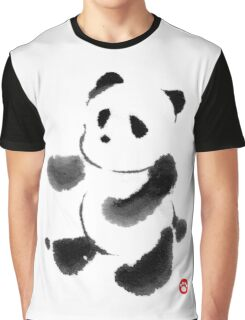 Ink Wash Panda Graphic T-Shirt