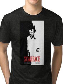 VEGETA SCARFACE Tri-blend T-Shirt