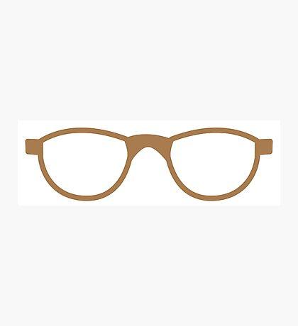pair of brown nerd glasses Photographic Print