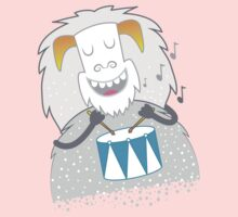 I like to play — WHITE snow yeti  One Piece - Short Sleeve