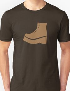 A brown boot shoe Unisex T-Shirt