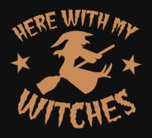 Here with my WITCHES awesome HALLOWEEN design Kids Tee