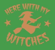 Here with my WITCHES awesome HALLOWEEN design One Piece - Short Sleeve