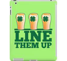 Line them up 3 beers lined up IRISH shamrock beers iPad Case/Skin