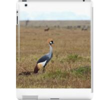 Grey Crowned Crane on the Masai Mara iPad Case/Skin