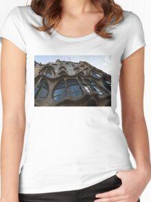 House of Bones - Antoni Gaudi's Casa Batllo in Barcelona, Spain Women's Fitted Scoop T-Shirt