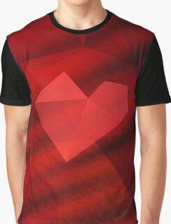 Polygon Heart Graphic T-Shirt