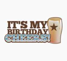 It's my BIRTHDAY CHHERS! beer pint and STAR One Piece - Short Sleeve