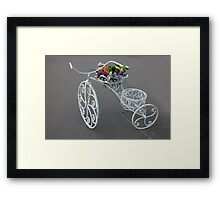 bike flower bed Framed Print