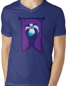 BANNER CREST SIGIL Purple claws grasping a white opal blue orb Mens V-Neck T-Shirt