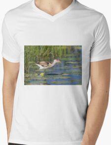 Young Lotusbird Mens V-Neck T-Shirt